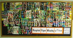 Recycled paper weaving grade 1