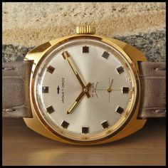 NOS1960's JAQUET DROZ [Swiss] Vintage Gold Dress Watch HW 17j Unitas Cal. 6325