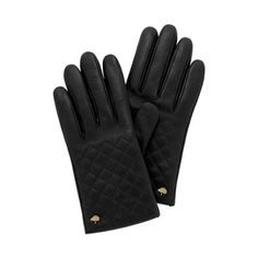 Mulberry - Quilted Glove in Black Nappa