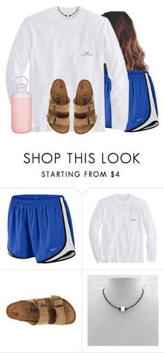 """Lazy ootd for Friday"" by aweaver-2 on Polyvore featuring NIKE, Vineyard Vines, Birkenstock and Contigo"