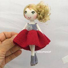 "582 Me gusta, 8 comentarios - OHOP SHOP (@ohopshop) en Instagram: ""#muffinthedoll#crochet #crochetdoll #crochetdolls #amigurumi #crochetoutfit #handmade #handicraft…"""