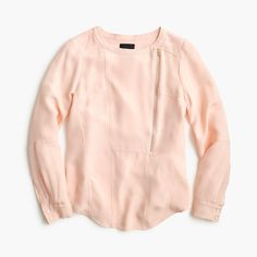 Collection luxe silk moto top : tops | J.Crew