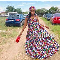 Latest Ndebele Traditional Dresses - Sunika Traditional African Clothes Tsonga Traditional Dresses, Traditional Dresses Designs, Traditional African Clothing, Traditional Wedding Dresses, African Dress, African Clothes, African Fashion, Fashion Women, African Design