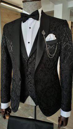 Slim Fit Tuxedo, Slim Fit Suits, Tuxedo For Men, Tuxedo Colors, Black Suit Men, Groom Attire, Groom Suits, Groom Wear, Designer Suits For Men