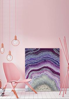 Geode Agate 3D Painting Charoite