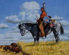 ☆ Buffalo Hunter -::- Artist Robert Tanenbaum ☆