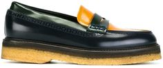 Etro colour block penny loafers