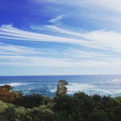 The Great ocean road part II - 12 apostles  #Australia #Victoria #greatoceanroad #12apostles #cliff #sea #seaside #coast #ocean #roadtrip #daytrip #drive #visitaustralia #visitvictoria #travel #travellife #traveller #sightseeing #waves #blueocean #summer #summerday #aussiesummer #filter #lark #erosion #bluesky #rock by slimpt