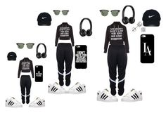 """Sisters Day Out"" by shygirl-dliv ❤ liked on Polyvore featuring adidas, New Look, Beats by Dr. Dre, Casetify, Nike Golf, Ray-Ban and Amanda Rose Collection"