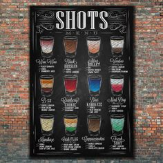 Chalkboard Print Kitchen Art-Alcohol by TimelessMemoryPrints