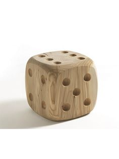 Solid wood dice stool