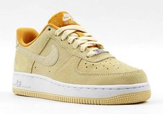 These two pairs of Air Force 1s come with Spring colors and suede and croc detailing on the upper.