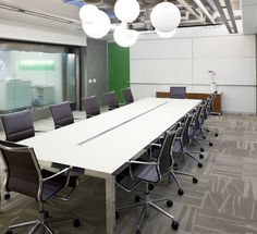 The Shaw carpet tiles look great in this conference room.