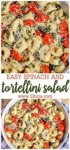 Easy Spinach Tortellini Salad Recipe | Lil' Luna