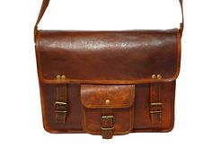 Small Leather Briefcase 11""