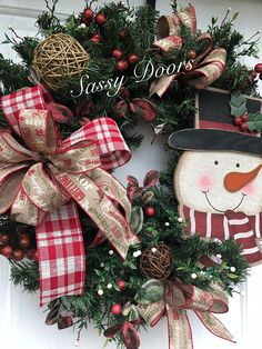 Snowman WreathSnowman Christmas Wreath Country Christmas