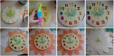 hacer relojes de pared con niños - Buscar con Google