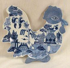 Blue Willow Chicken Plate