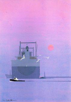 Risultati immagini per Sophie Diao Japanese Art Modern, Japanese Landscape, Japanese Prints, Art And Illustration, Korean Art, Asian Art, 8 Bits, Matte Painting, Magazine Art