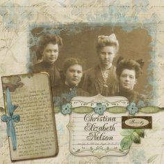 Impressive.   Great Grandmother - Scrap Girls Club Layouts - Gallery - Scrap Girls Digital Scrapbooking Forum