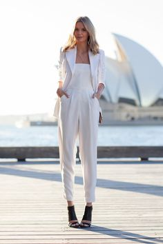 Joseph coat from The Outnet, Topshop jumpsuit, Proenza Schouler wallet, Steven cuffed sandals
