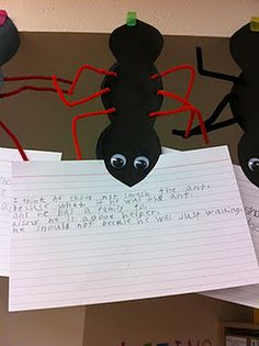Hey Little Ant craft and writing... cute idea