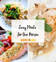 These delicious meals for one are easy to make and totally satisfying! Good Food, Yummy Food, Delicious Meals, Fun Food, Cooking For One, Cooking Ideas, Food Ideas, Best Dinner Recipes, Easy Recipes