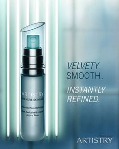VELVETY SMOOTH: say hello to the Artistry intensive skin care advanced skin refinished -- the fourth introduction in our skin care collection. ARTISTRY US
