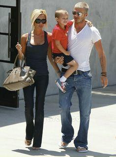 David and Victoria Beckham - Casual