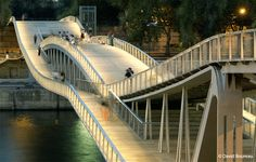 Passerelle Simone de Beauvoir in Paris - designed by the team of Feichtinger Architects, consulting engineers RFR and Sepia