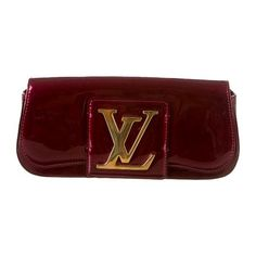 Louis Vuitton Sobe Clutch ($925) ❤ liked on Polyvore featuring bags, handbags, clutches, purses, borse, clutch bag, hand bags, burgundy handbag, louis vuitton handbags and louis vuitton clutches