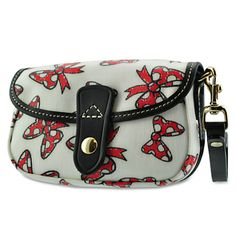 Minnie Mouse bow wristlet bag by Dooney & Bourke