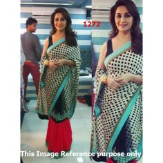 Madhuri Dixit Chiffon Bollywood Replica Saree