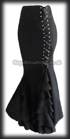 Gothic Victorian Mermaid Corset Skirt from The Gothic Catwalk A