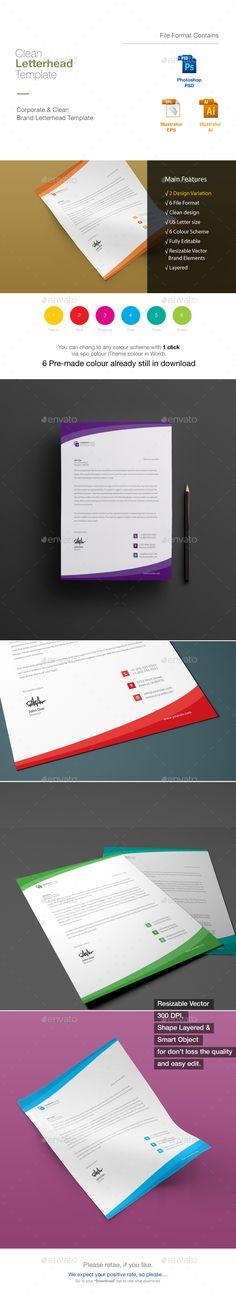Letterhead - psd letterhead template