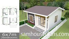 House Design Plans with 2 Bedrooms Full Plans - Sam House Plans Little House Plans, Small House Floor Plans, New House Plans, Simple House Design, Minimalist House Design, The Plan, How To Plan, Casa Loft, 2 Bedroom House Plans