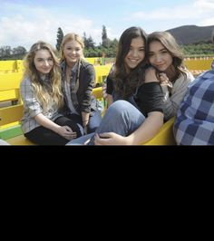 Girl meets do it!!! OMG love this photo so so much!!! My beautiful girls @sabricarpenter @oliviahoolt @rownablanchard