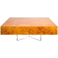 Bond Burled Mappa Wood Cocktail Table ($1,950) ❤ liked on Polyvore featuring home, furniture, tables, accent tables, brown, coffee tables, square wood coffee table, burl wood coffee table, burl coffee table and square table