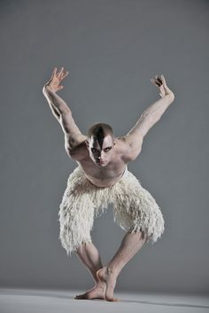 Matthew Bourne's Swan Lake with Richard Winsor as the Swan. From Bourne's London-based dance-theater company, New Adventures, updated contemporary-dance version of the 19th-century ballet classic.