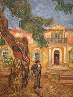 "Vincent van Gogh ""View of the Asylum with a Pine Tree"" 1889 (Special Exhibit, Chicago Art Institute)"