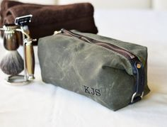 1081d98a18d9 339 Compact Dopp Kit Men s Toiletry Bag by SivaniDesignsShop Cotton  Anniversary
