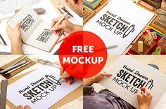 grafiker.de - 4 kostenlose Mockups für Skizzen und Illustrationen