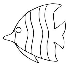 Amazing Coloring Pages For Your Kids Fish Patterns, Applique Patterns, Mosaic Patterns, Applique Designs, Quilt Patterns, Fish Template, Felt Fish, Under The Sea Theme, Fish Crafts