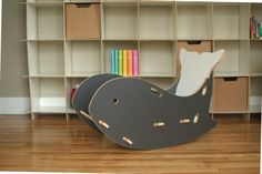 Kids love this Whale Kids Rocking Chair! With such a fun nautical twist on a classic kids wooden rocking horse, this little piece is perfect in the Kids bedroom, play room or nursery. Learn more about the grey whale chair, rocking chair at Sprout.