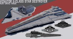 [StarWars] Venator II-class Star Destroyer by TheoComm on DeviantArt Nave Star Wars, Star Wars Rpg, Star Wars Ships, Spaceship Design, Spaceship Concept, Concept Ships, Spaceship Art, Star Wars Desenho, Star Wars Planets