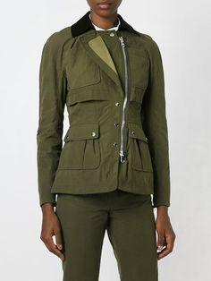 corduroy collar military jacket