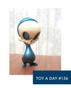 Blue faded to black mini Skelve  by Kathie Olivas and Brandt Peters - i own the red one