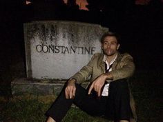 That time the crew found a real Constantine gravestone while filming…
