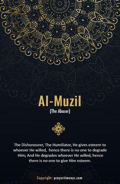 Beautiful Names of Allah Al-Muzill (المذل): The Humiliator. #Asmaulhusna #allah #islam #muslim