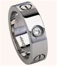 The new Cartier Men's ring. I love it! comes with a white, blue or black diamond.